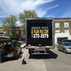 Camion de déménagement du planpascon
