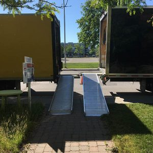 camions de déménagement prêt à déménager